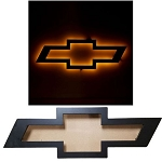 Chevrolet Illuminated Black Bowtie Wall Sign