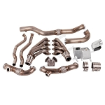 2005-2014 Ford Mustang 4.6L V8 Single Turbo Header Downpipe Kit - For T4 Turbo Applications