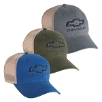 Chevrolet Open 3-D Bowtie Platinum Series Tea Stain Mesh Cap - 3 Color Options