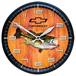 Chevrolet Bowtie Bass Wall Clock - 12in