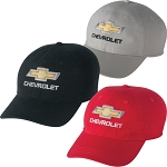 Chevrolet Gold Bowtie Cap - 3 Color Options - Khaki / Black  Red