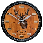 Chevrolet Bowtie Buck Wall Clock - 12in