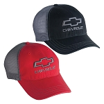 Chevrolet Open Bowtie Garment Washed Trucker Cap - 2 Color Options