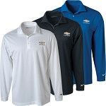 Chevrolet Gold Bowtie Men's Nike Golf L/S Dri-Fit Stretch Tech Polo