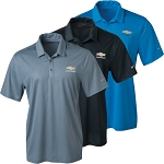 Chevrolet Gold Bowtie Men's Nike Dri Fit Embossed Tri-Blade Polo