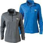 Chevrolet Gold Bowtie Cool & Dry Performance Womens Quarter Zip Jacket - Multiple Options