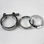 Granatelli 3in Interlocking Male/Female Design Flanges w/ V-Band Clamp Included