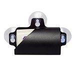 EZ Pass Electronic Toll Tag Holder w/ 3 Suction Cup Design - Black
