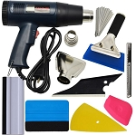 Automotive Wrap / Tint / Vinyl Installation Tool Kit w/ LCD Display Heat Gun - 8pc Set