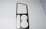 2008-2014 Dodge Challenger 5.7L / SRT 8 REAL Carbon Fiber Outer Shifter Plate Overlay w/ Polished Stainless Steel Trim