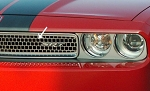 2008-2014 Dodge Challenger Polished Stainless Grille Overlay - Upper Main