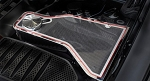 2011-2017 Dodge Challenger 5.7L / SRT 8 / 6.1L / 6.4L Real Carbon Fiber Water Tank Top Cover Plate w/ Stainless Trim
