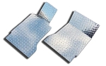 2005-2009 Ford Mustang V6 & GT Polished Diamond Plate Floor Mats -4Pc