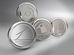 2005-2009 Ford Mustang Automatic Brushed Stainless Steel 4pc Executive Chrome Fluid Cap Cover Set - Automatic Transmission Only