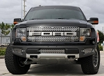 2010-2014 Ford Raptor Polished Stainless Steel 3pc Lower Front Grille Kit - Polished Finish