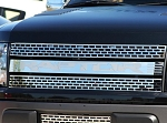 2010-2014 Ford Raptor Polished Stainless Steel Front Grille w/ Brushed Raptor Insert