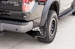 2010-2014 Ford Raptor Stainless Steel Carbon Fiber Front Mud Guard Kit - Front Only