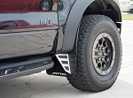 2010-2014 Ford Raptor Carbon Fiber Stainless Steel Front Mud Guards - Front Guards Only