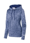 Ford Ladies Sport-Tek Heather Fleece Hoodie - True Royal Electric