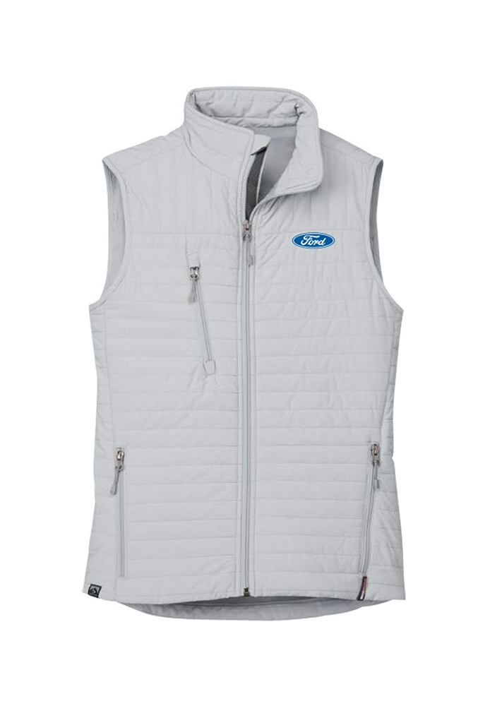Ford Ladies Quilted Thermolite Vest - Platinum