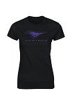 2005-2015+ Ford Mustang Ladies Black Tee