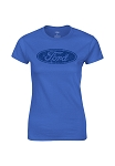 Ford Oval Ladies Royal Tee
