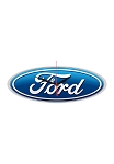 Ford Oval Logo Clock