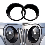 2007-2017+ Jeep Wrangler JK Front Headlight Trim Ring Bezels - Pair - Black / Unpainted