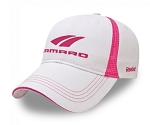 Gen 5 Gen 6 Camaro 2010-2016+ Ladies Reebok Cap w/ Stretchable Velcro Closure - White / Pink
