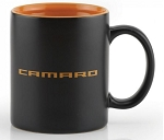 Gen 5 Gen 6 Camaro 2010-2016+ Ceramic Coffee Mug - Matte Black w/ Orange Script