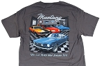 2005-2015+ Ford Mustang You Can Never Have Enough Toys T-Shirt - Gray