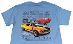 2005-2015+ Ford Mustang Whos The Boss T-Shirt - Blue
