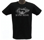 2005-2015+ Ford Mustang Modern Grille Pony T-Shirt - Black