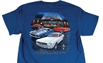 2005-2015+ Ford Mustang Lettin The Ponies Out To Play T-Shirt - Blue