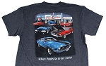 2005-2015+ Ford Mustang Speed Shop T-Shirt - Gray