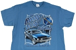 2005-2015+ Ford Mustang Bump & Grind Body Shop T-shirt - Blue