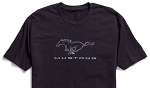 2005-2015+ Ford Mustang Classic Black Mustang Pony T-Shirt