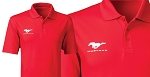 2005-2015+ Ford Mustang Under Armour Anti-Pill Polo Shirt w/ Pony Logo & Script - Red