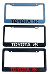 Toyota Brand Script License Plate Frame - Color/Finish Selections