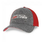 C7 Corvette 2014+ Z06 New Era Fitted Cap - Scarlet Red/Shadow Heather
