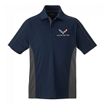 C7 Corvette 2014-2019 Stingray Performance Colorblock Polo - Navy/Gray - Small Only