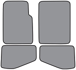 2004-2006 Jeep Wrangler TJ Unlimited Cut Pile Floor Mats w/ Jeep Script - 4pc