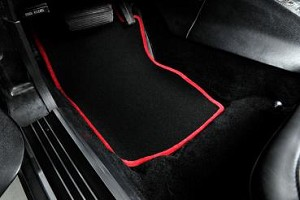 C3 Corvette 1968-1982 Black Floor Mats w/ Accent Color Binding