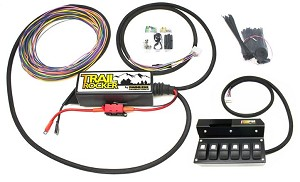 2009-2018 Jeep Wrangler JK Painless Performance Trail Rocker Overhead 6 Switch Box w/ Rear View Mirror Options