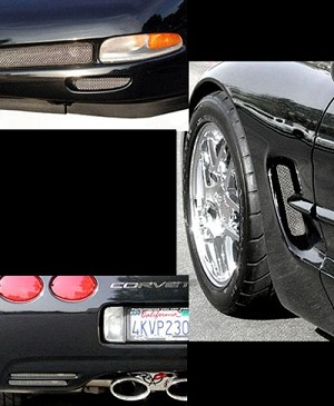 C5 Corvette 1997-2004 6-Piece Screen Kit - Brake Duct, Side Fender Vent &  Rear Fascia Vent Screens