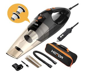 HOTOR Wet/Dry Portable Handheld Vacuum w/ 16.4 Ft. Cord & Attachments