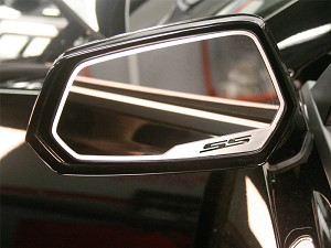 Gen 5 Camaro 2010-2013 Brushed SS Style Side View Mirror Trim -  2pc