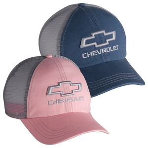 Chevrolet 3-D Open Bowtie Washed Mesh Cap - 2 Color Options