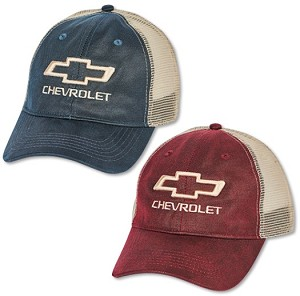Chevrolet Bowtie Weathered Canvas Mesh Back Cap