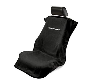 2006+ Dodge Charger Seat Armour Front Seat Cover Towel w/ Logo - black